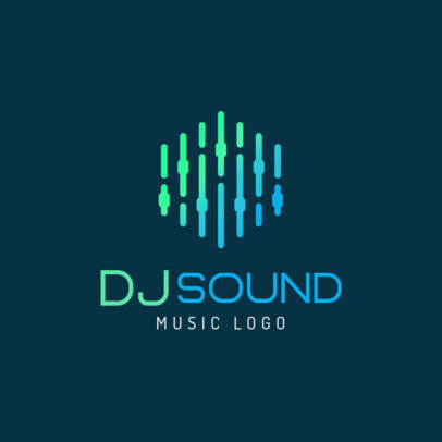 Logo Creator Featuring a Minimalistic Graphic of an Audio Console 1733a-el1