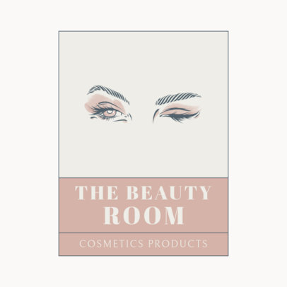 Logo Creator for a Beauty Room Featuring Female Eyes 3317a