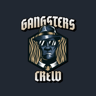 Gaming Logo Maker with a Serious Looking Mobster Character 3323c