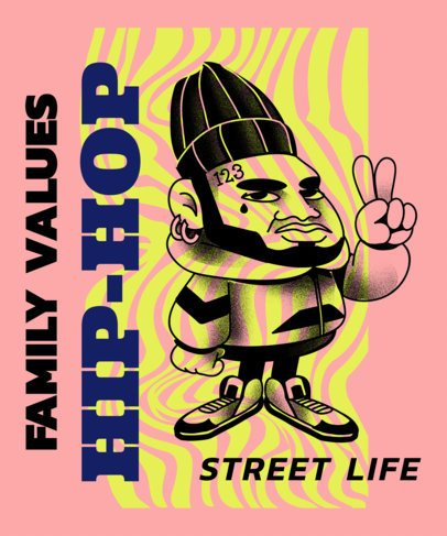 Trendy T-Shirt Design Maker with Hip Hop Style Characters 2605