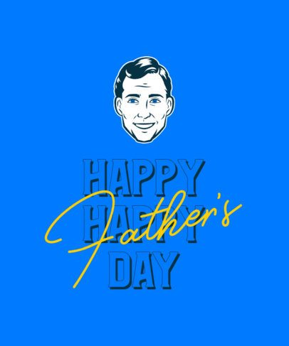 T-Shirt Design Creator for Father's Day Featuring a 70's Graphic of a Man 2112m-2614