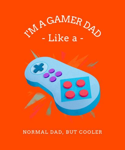 Father's Day T-Shirt Design Maker With a Retro Game Controller Illustration 2284g-2614