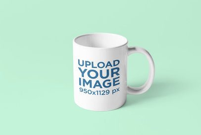 Minimalistic Mockup of a Coffee Mug Against a Plain Color Background 4486-el1