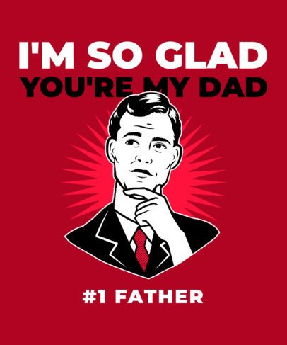 Retro T-Shirt Design Generator for Father's Day 2399f-2614