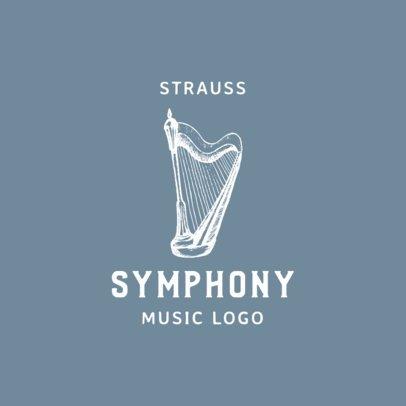 Music Logo Maker Featuring a Harp Graphic 1771a-el1