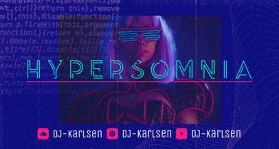 Online Twitch Banner Maker for an Emerging DJ 2598c