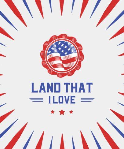 T-Shirt Design Maker for America's Independence Day 1852-el1