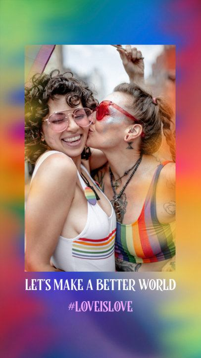 Instagram Story Design Template with a Picture of an LGBT Couple 2607i