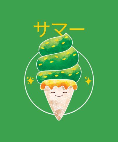 T-Shirt Design Creator with a Green-Colored Ice Cream Cone 1875d-el1