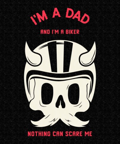 Cool T-shirt Design Maker For a Biker Dad 2134i-2614