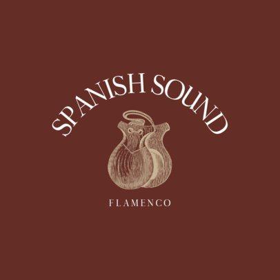 Flamenco Music Logo Template Featuring Spanish Castanets 1772d-el1