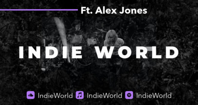 Monochromatic Twitch Banner Maker for an Indie Musician's Page 2598j