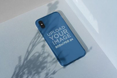 Clear Phone Case Mockup Featuring a Minimal Setting 4600-el1