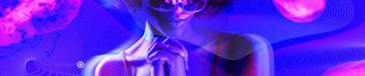 SoundCloud Banner Maker Featuring an Artist Surrounded by Neon Lights 2596g