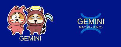 Zodiac-Themed Mug Design Maker with a Funny Graphic of Gemini 1838d-el1