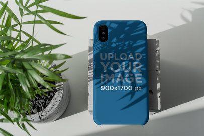 Mockup of a Phone Case Under a Plant's Shadow 4622-el1