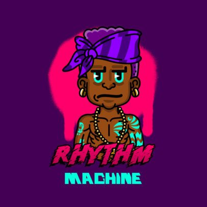 Avatar Logo Maker Featuring a Rapper with Bright Tattoos 3331a