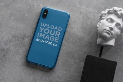 Clear Phone Case Mockup Featuring a Cool Ornament 4637-el1