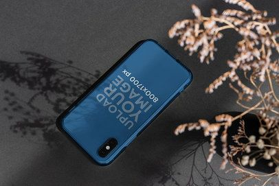 Clear Phone Case Mockup Featuring a Decorative Plant 4608-el1