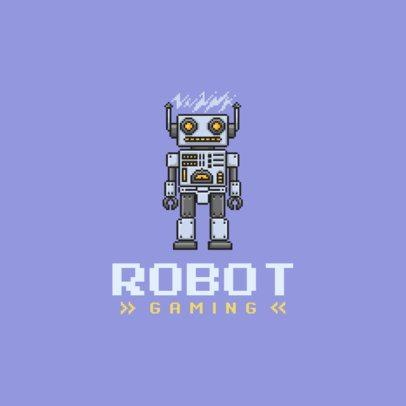Gaming Logo Maker Featuring Pixel Characters 1861-el1
