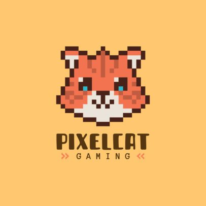 Pixel Logo Maker with a Graphic of an Adorable Cat 1861c-el1