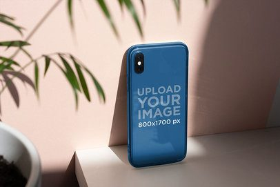 Mockup of a Clear Phone Case Under a Ray of Sunlight 4609-el1