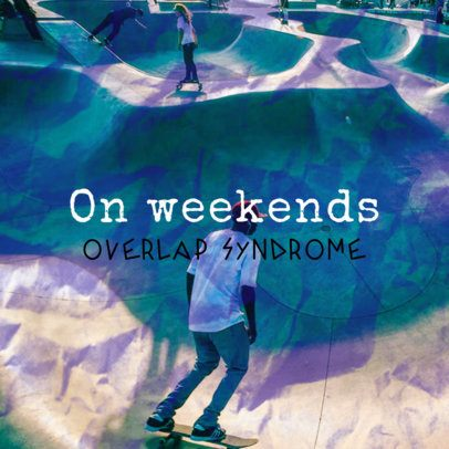 Album Cover Design Generator Featuring a Picture of a Skatepark as Background 2610n-2612