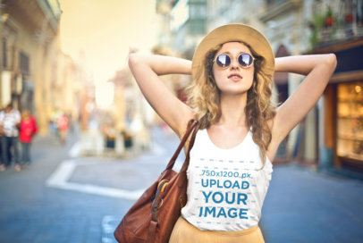 Tank Top Mockup Featuring a Stylish Young Woman 37606-r-el2