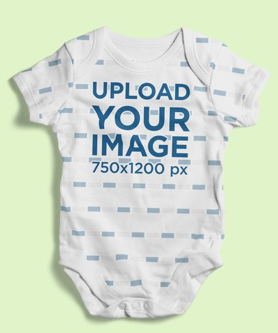 Mockup of a Sublimated Onesie Placed on a Customizable Surface 4596-el1