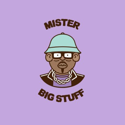 Avatar Logo Template Featuring a 90's Style MC 3333c