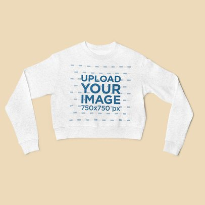Mockup of a Crop Top Heather Sweatshirt Lying Flat 4409-el1