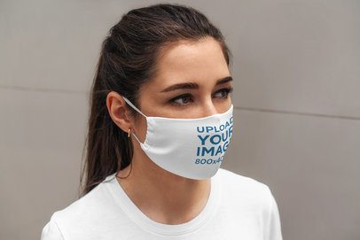 Face Mask Mockup Featuring a Young Woman 4668-el1