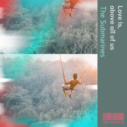 Album Cover Template Featuring Lomography-Style Pictures 2645c