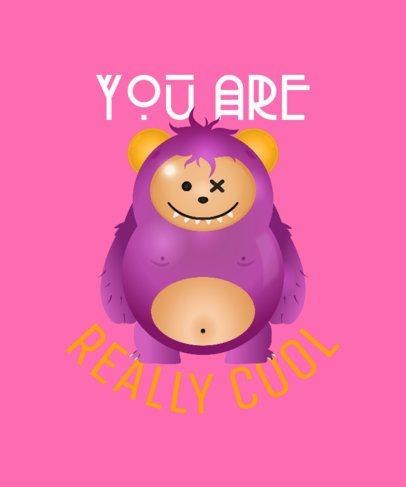 T-Shirt Design Maker with a Cute Teddy Bear Cartoon 2652d