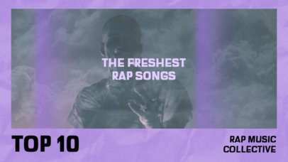 YouTube Thumbnail Template for Rap Music Channels Featuring a Vintage Photo Effect 2648b