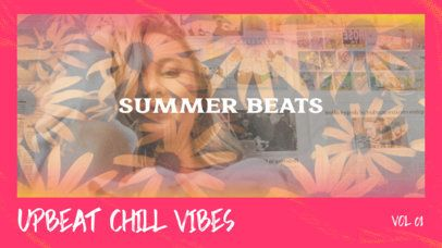 Summer-Themed YouTube Thumbnail Design Template With a Vintage Film Effect 2648d