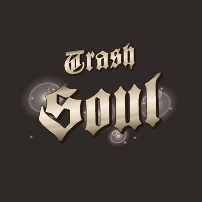 Logo Generator Featuring a Metallic Typeface and Light Flares 3366h