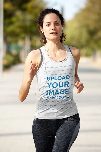 Tank Top Mockup Featuring a Woman Running 37979-r-el2