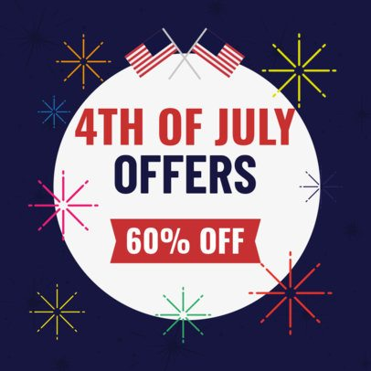 Banner Design Template with a 4th of July Discount Offer 2488l 2664