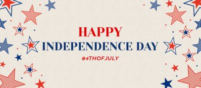 Facebook Cover Design Template with a Happy Independence Day Message 2487k 2664