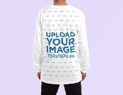 Mockup of the Back of a Man Wearing an Oversized Sweatshirt 4461-el1