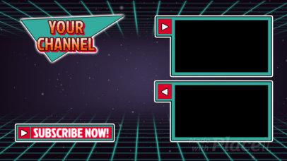 YouTube End Screen Video Maker with a Retro Futuristic Style 1347-el1