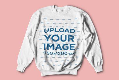 Crewneck Sweatshirt Mockup Featuring a Solid Color Background 4750-el1
