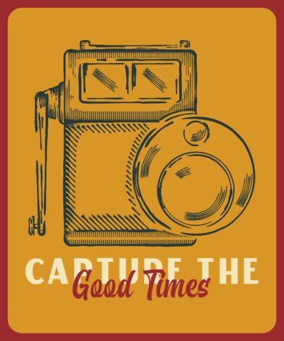 Quote T-Shirt Design Featuring a Cool Analog Camera 2637c