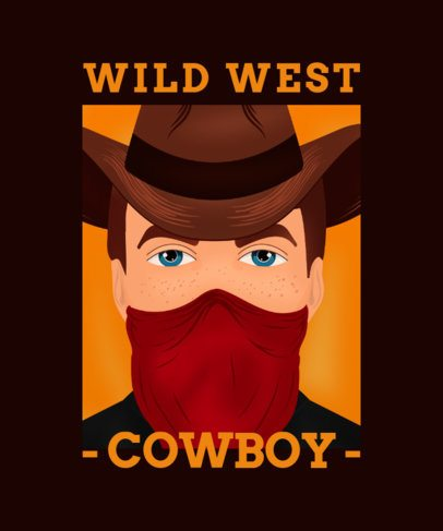 T-Shirt Design Maker Featuring a Western Cowboy with a Bandana 2634c