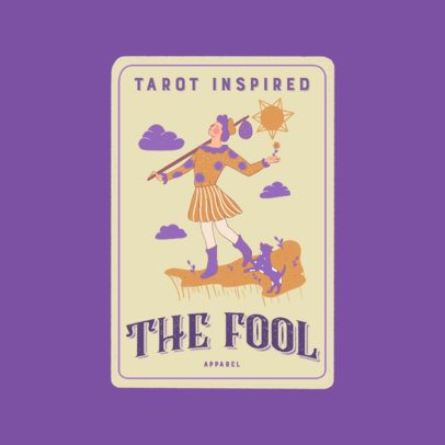 Logo Generator Featuring a Customizable Tarot Card 3369a