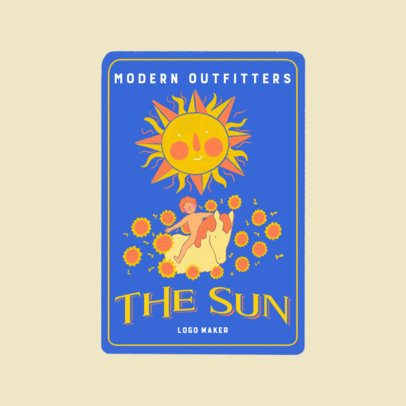 Logo Creator Featuring a Sun Tarot Card Graphic 3369f
