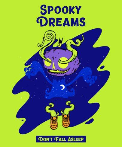 Illustrated T-Shirt Design Maker Featuring a Weird Cartoon Character 2621f