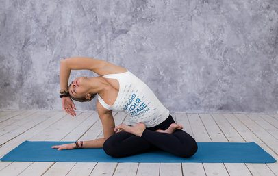 Tank Top Mockup Featuring a Young Woman Doing a Yoga Pose 37188-r-el2