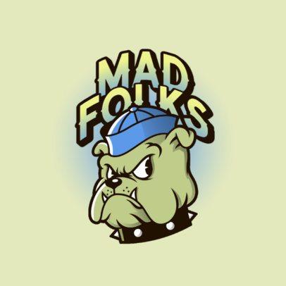 Gaming Logo Maker with a Cartoonish Bulldog Character 3377b